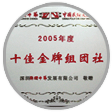 'The Golden Co-operator 2005' awarded by Shenzhen Splendid
